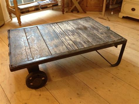 Vintage Industrial Coffee Table  The Consortium, Vintage