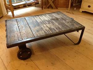 Vintage industrial coffee table the consortium vintage for Retro industrial coffee table