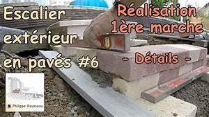 Hauteur Marche Escalier Extérieur : construire un escalier ext rieur de jardin en pav 6 r alisation de la 1 re marche en ~ Farleysfitness.com Idées de Décoration