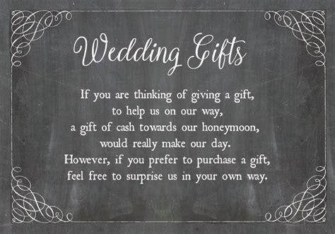 chalkboard wedding gift  card