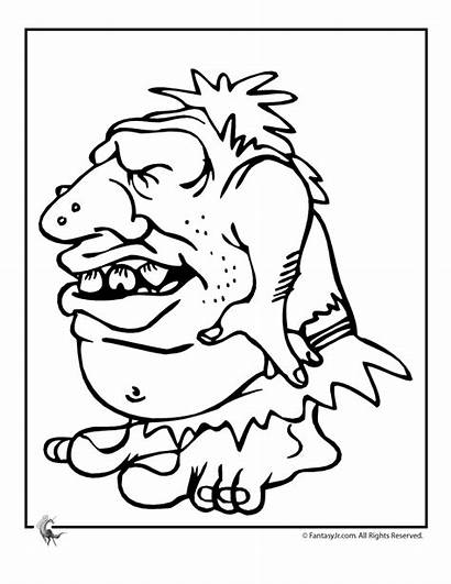 Coloring Pages Trolls Colouring Ugly Troll Adult