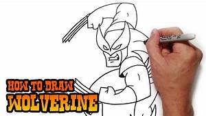 How To Draw Wolverine Step By Step Video Lesson Youtube