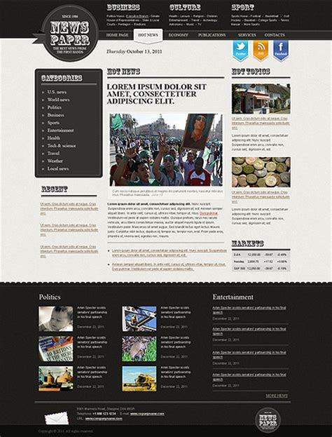 Newspaper Html Website Template Best Templates