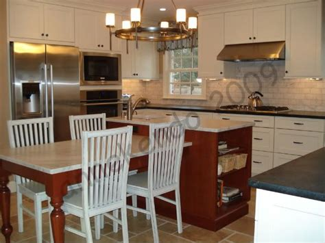 kitchen island with attached table kitchen island with table attached kitchen island 8233