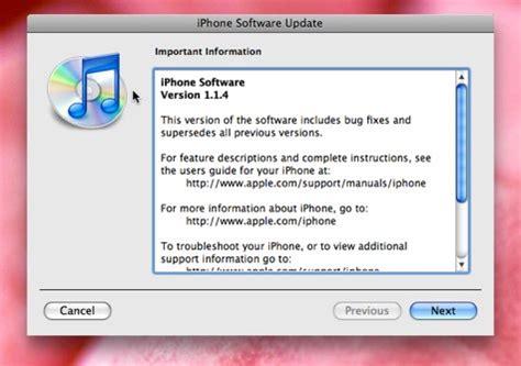 iphone firmware update iphone 1 1 4 firmware update now available already