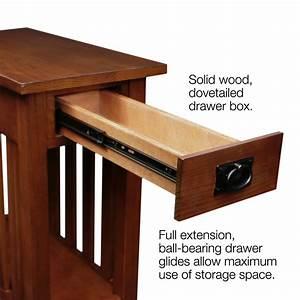 Amazon com: Leick Furniture Mission Side Table, Medium Oak