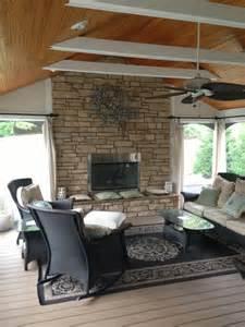 Three Season Room with Fireplace