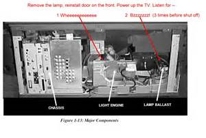 Mitsubishi Dlp Tv Parts by My Mitsubishi Wd 62327 Dlp Rear Projection Tv Stopped