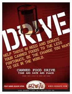 Tg080079 canned food drive flyer