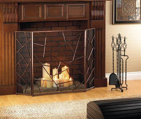 modern geometric fireplace screen wholesale  koehler