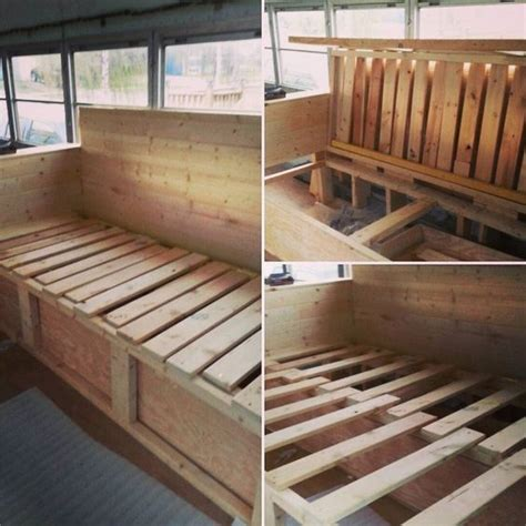 couch storage   pull  bed skoolie