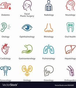 Colored Medical Specialties Icons