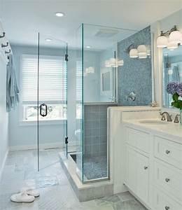 Blue, Glass, Shower, Tiles, Transitional, Bathroom, Donna