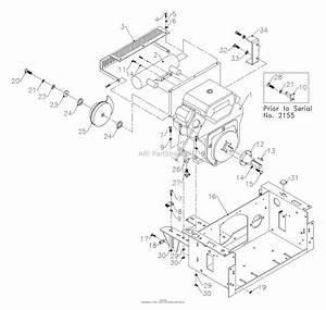 Bunton  Bobcat  Ryan 75-02072 27hp Kawasaki W  61 U0026quot  Deck Parts Diagram For Engine