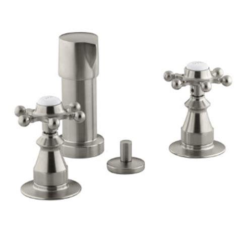 kohler k 142 3 bn antique fixture mount bidet faucet w six