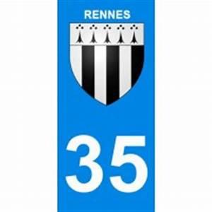 Autovalley Rennes : stickers pour plaque d 39 immatriculation departement 35 rennes ~ Gottalentnigeria.com Avis de Voitures