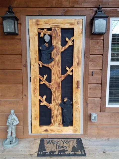 custom carved screen doors shipping