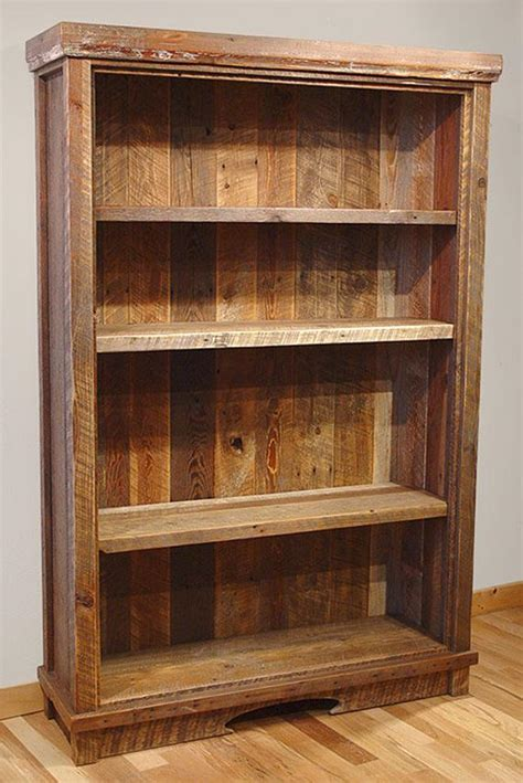 Reclaimed Barn Wood Rustic Heritage Bookcase