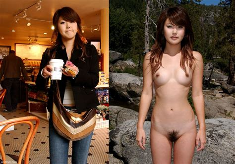 Asian Chick With An Outdoor Off X Post From Rnsfw Onoff Tag Dressed And Undressed
