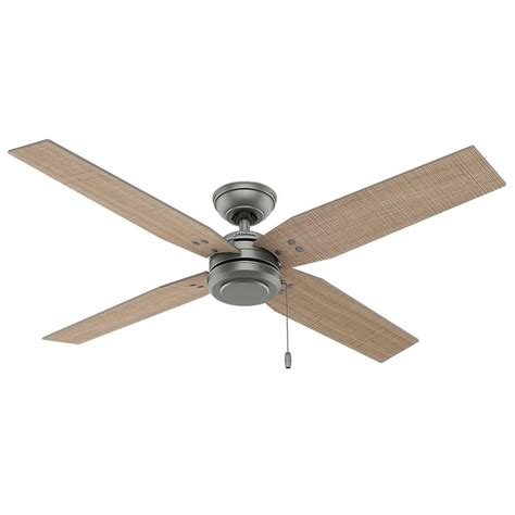 hunter 54 ceiling fan hunter commerce 54 in indoor outdoor matte silver ceiling