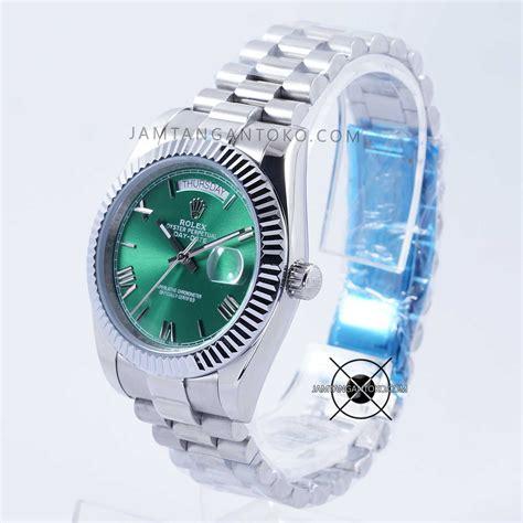 Jam Tangan Rolex President harga sarap jam tangan rolex day date 40 silver green