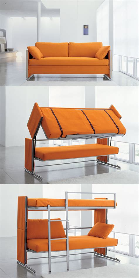 sofa that turns into a bunk bed interesting strange and great inventions 15 pics i