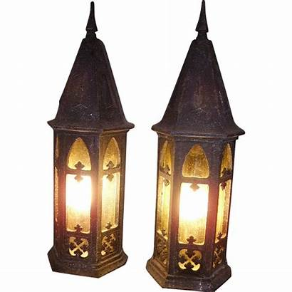 Gothic Porch Lights Church Kerze Candle Pair