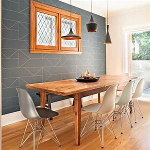 papier peint ultra tendance pour la salle a manger salle With deco papier peint salle a manger pour deco cuisine