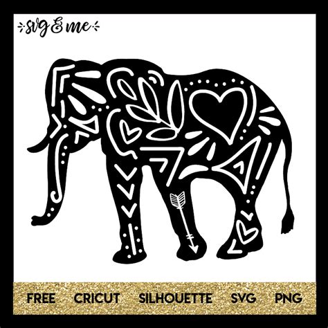 The link for the vip library is included in the thank you email that you should. Free SVG Doodle Elephant - SVG & Me