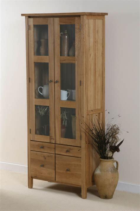 tall glass front cabinet oak furniture land storage reviews