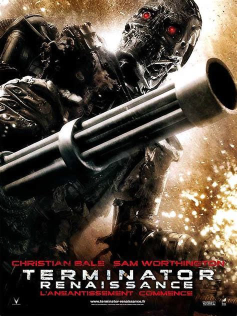 Dans l'ensemble de la saga terminator, il y a un avant et un après. Terminator Renaissance - L'affiche française - Sebiwan dans les étoiles