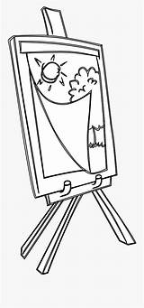 Easel Coloring Easels Drawing Clipartkey sketch template