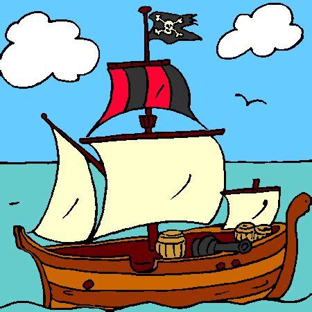 coloriage bateau pirate  imprimer pirate pinterest