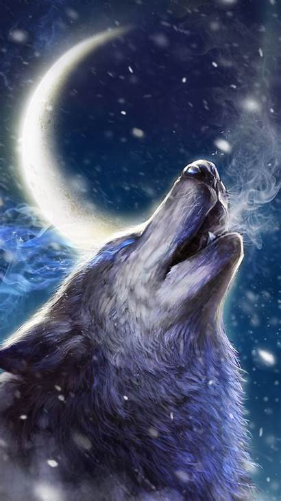 Wolf Wallpapers Anime Howling Iphone Wolves Cool