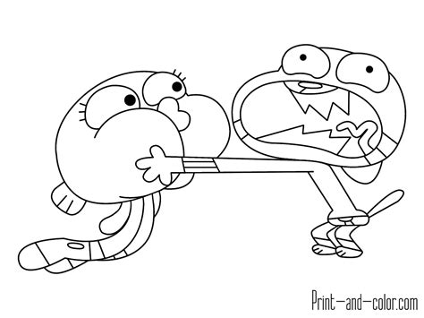 Amazing Coloring Pages Amazing World Of Gumball Printable Coloring Pages