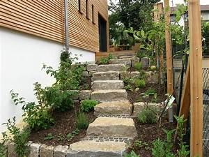 Naturstein Im Garten : naturstein quader als treppe haufler baumschule und ~ A.2002-acura-tl-radio.info Haus und Dekorationen