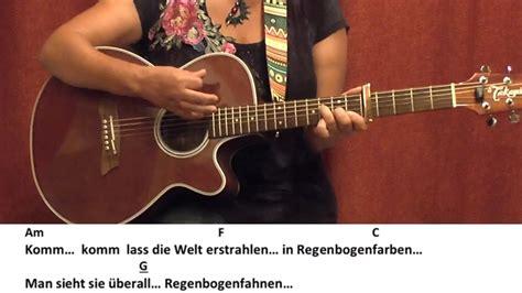Regenbogenfarben-kerstin Ott/ Gitarre/guitar/tutorial