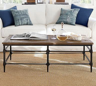 Impact_rad coyote_sc griffin reclaimed wood round coffee table, 36l pottery barn. Parquet Reclaimed Wood Rectangular Coffee Table   Pottery Barn