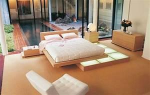 lit zen japonais With idee deco cuisine avec lit japonais