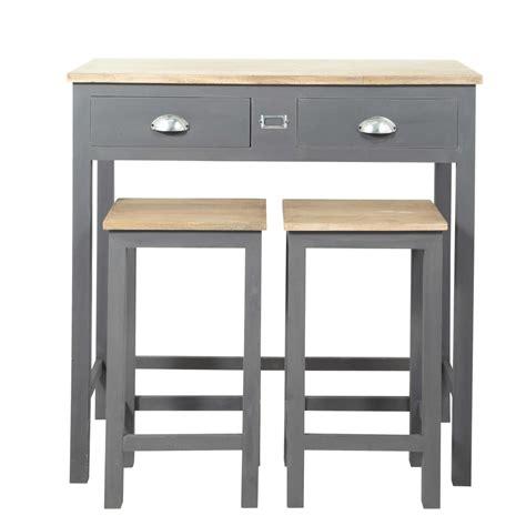 table de cuisine haute table haute de salle à manger haute 2 tabourets en bois