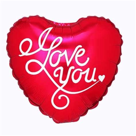 love  script mylar balloon