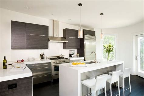 white and brown kitchen cabinets kitchen remodel 101 stunning ideas for your kitchen design Modern