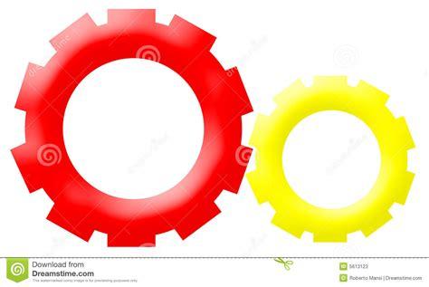 company logo mechanism gear driven wheels stock
