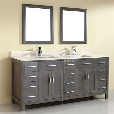 gray double sink vanity double sink bathroom vanity kalize 75 french gray finish