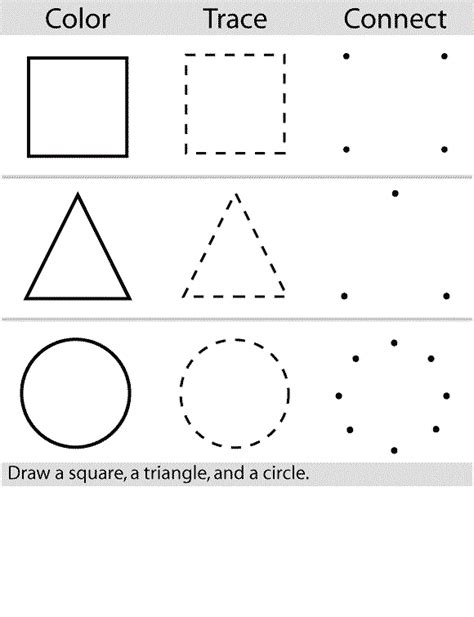 2014 Free Shape Tracing Worksheets For Preschoolers  Coloring Point  Coloring Point