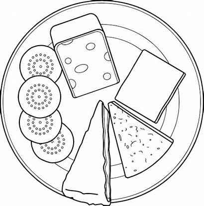 Plate Cheese Coloring Cheeses Selection Pages Dairy