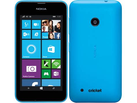 phones for cricket nokia lumia 530 3g windows 8 smart phone in blue for