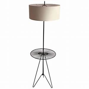wire floor table lamp in the style of tony paul mid With wiring a table lamp