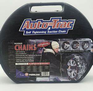 Auto Trac Tire Chains Peerless Self Tightening See Chart