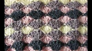 easy crochet shell stitch blanket crochet blanket